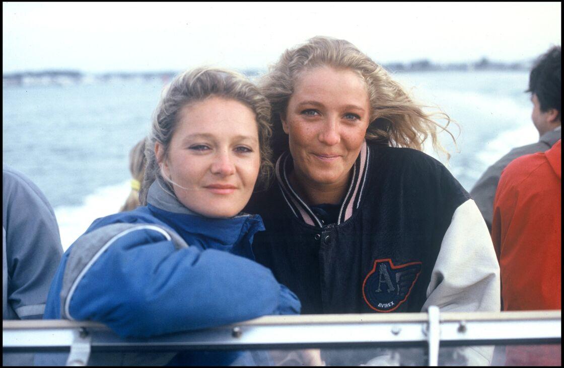 Marie-Caroline et Marine Le Pen en 1987