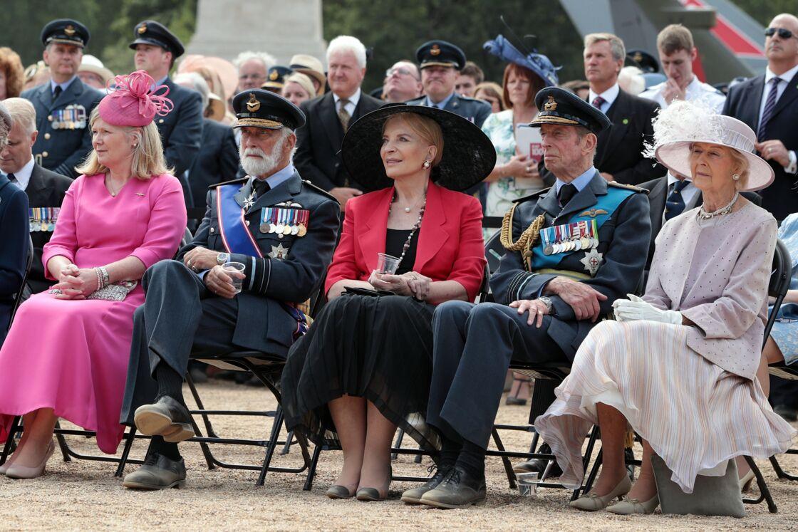 Le prince Michael de Kent, Marie-Christine von Reibnitz, le prince Edward, duc de Kent et la princesse Alexandra, lors d'une cérémonie à Londres.