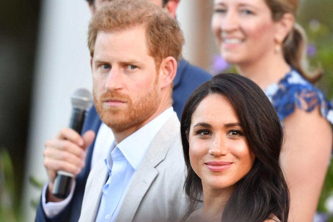 Le prince Harry, duc de Sussex, et Meghan Markle, duchesse de Sussex, se rendent à la résidence de l'ambassadeur à Cape Town, au 2 ème jour de leur visite en Afrique du Sud, le 24 septembre 2019.