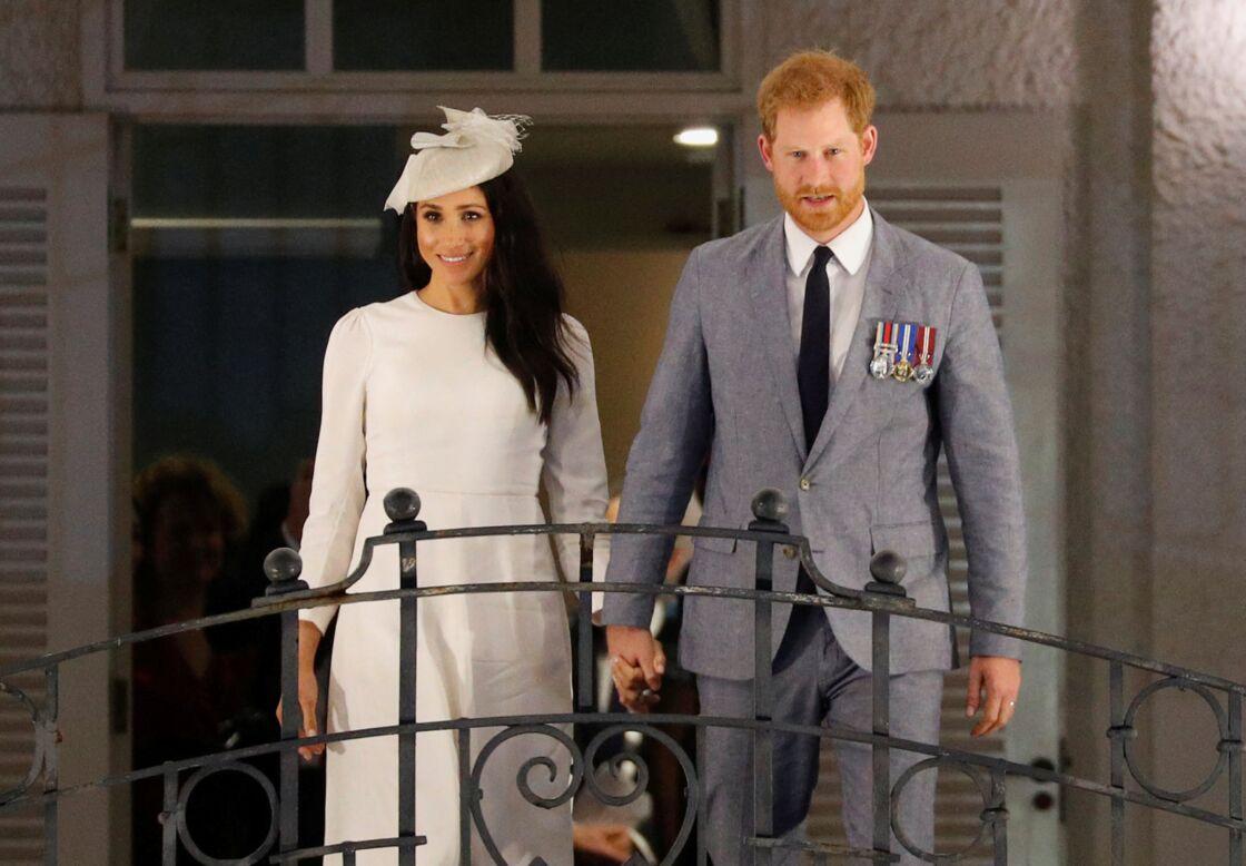 Meghan Markle et le prince Harry lors d'un voyage officiel aux îles Fidji, en 2018.