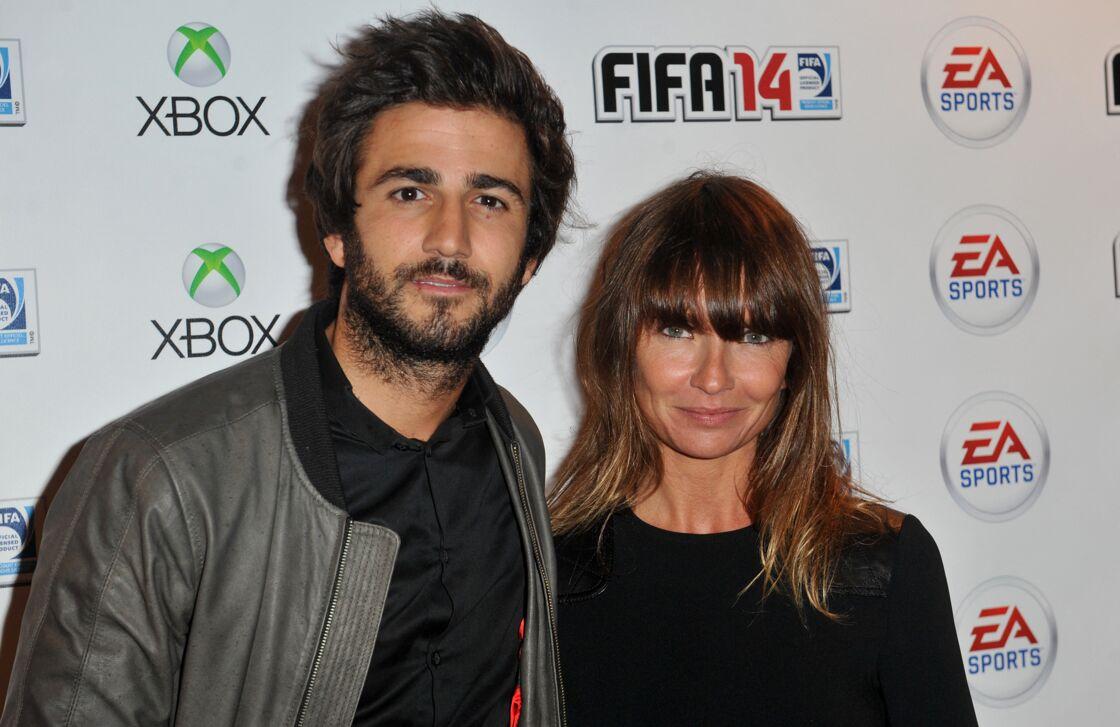 Cyril Paglino et l'actrice Axelle Laffont à Paris, le 23 septembre 2013