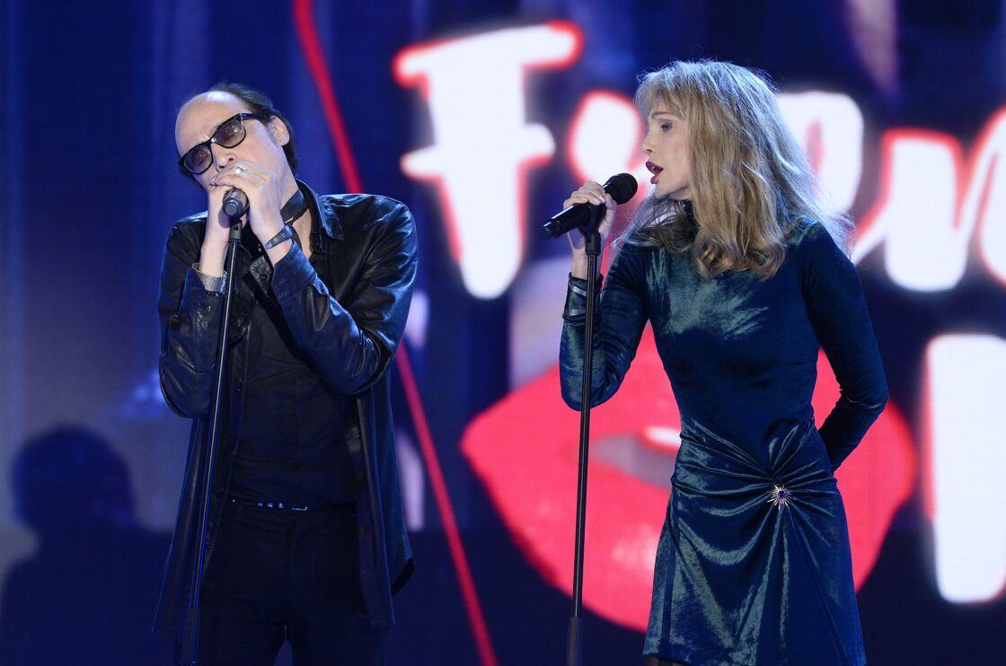 Nicolas Ker et Arielle Dombasle lors de l'enregistrement de l'émission