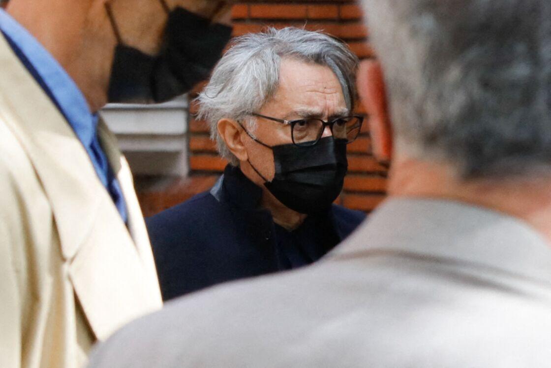 Richard Berry lors des obsèques de Jean-Yves Bouvier en l'église Notre-Dame d'Auteuil, à Paris, le 19 mai 2021.