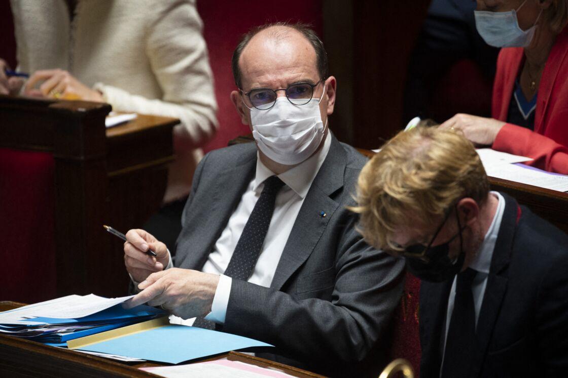 Jean Castex, Premier Ministre - Séance de questions au gouvernement à l'Assemblée nationale à Paris, France, le 18 mai 2021.