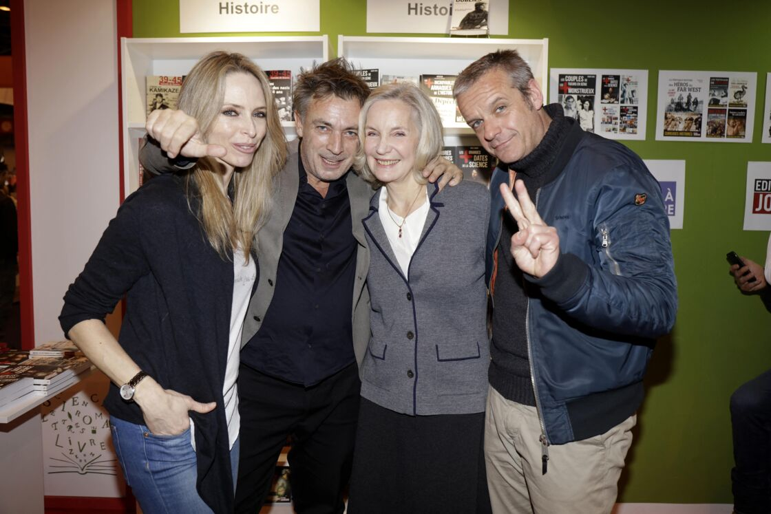 Tonya Kinzinger, Frédéric Deban, Marie-Christine Adam et David Brécourt, acteurs de la série Sous le Soleil), lors du