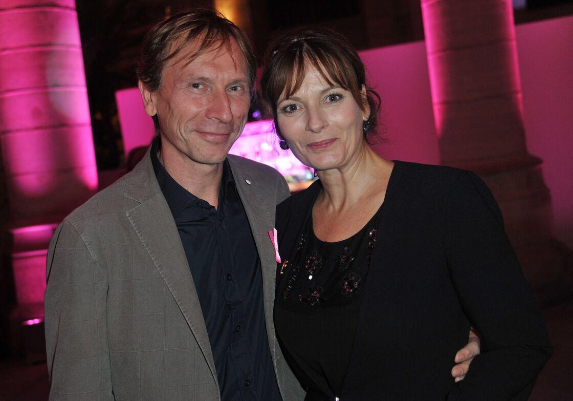 Cecilia Hornus (Plus belle la vie) et son compagnon Thierry Ragueneau - Soiree