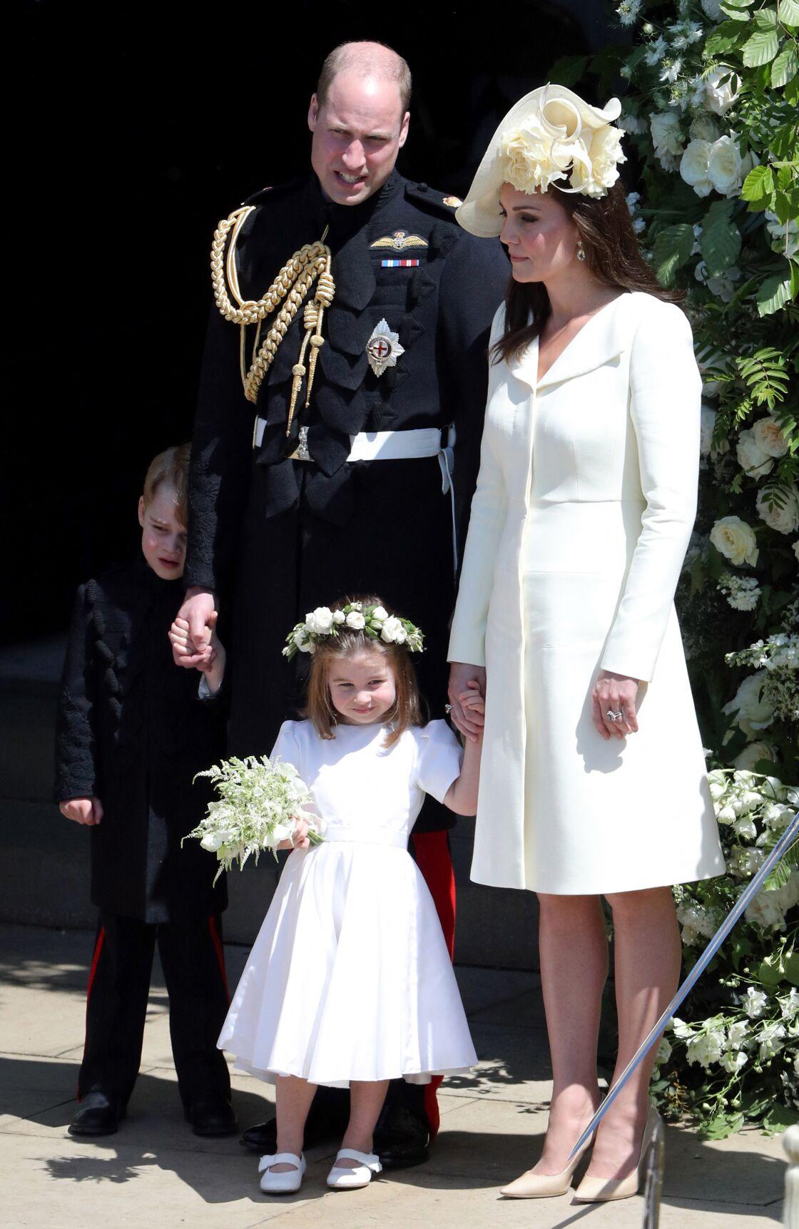 La Duchesse de Cambridge portait un ensemble immaculé lors du mariage de Meghan et Harry, le 19 mai 2018.