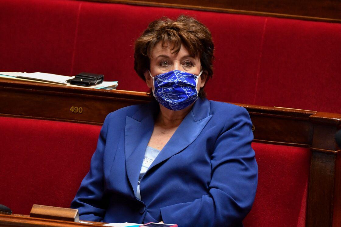 Roselyne Bachelot, lors des questions d'actualité au gouvernement à l'Assemblée nationale, à Paris, le 9 mars 2021.