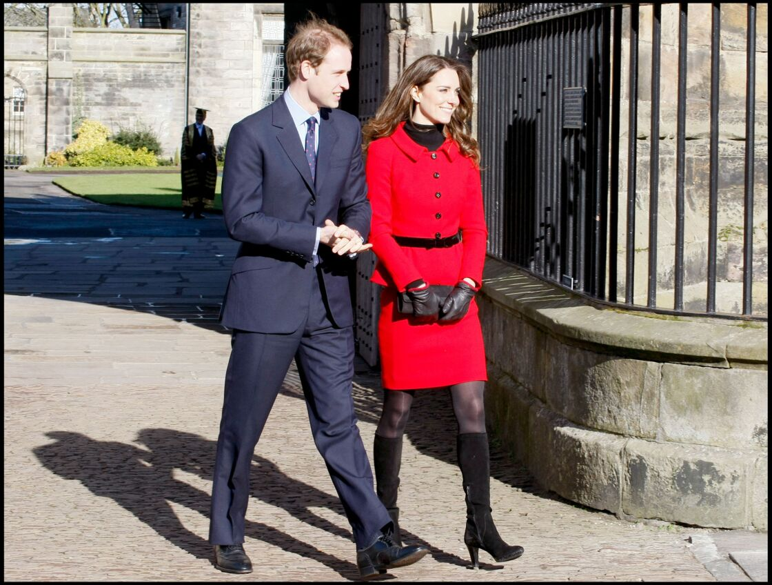 Le Prince William et Kate Middleton, à l'université de Saint-Andrews en Ecosse, le 25 février 2011