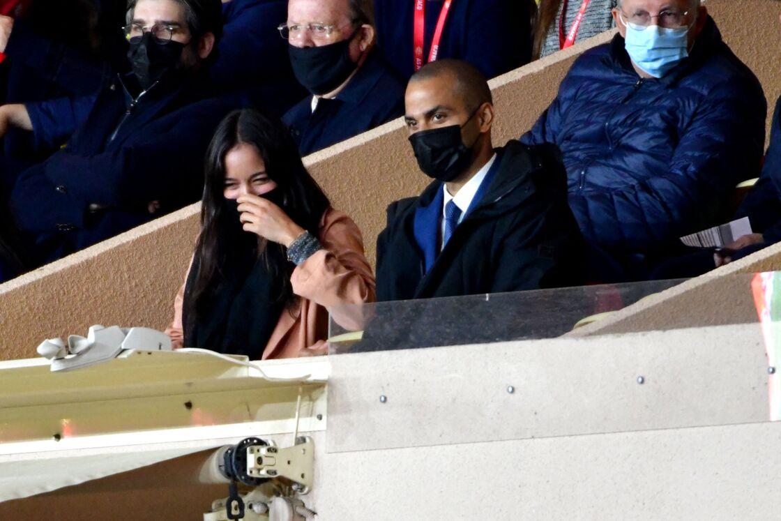 Alizé Lim et Tony Parker aperçus au stade en mai 2021