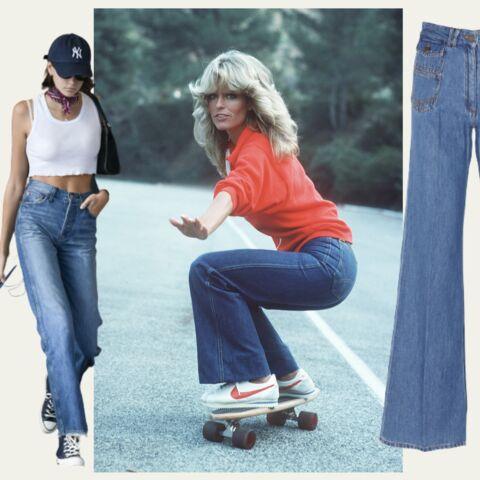 Comment porter le jean flare comme Farrah Fawcett?