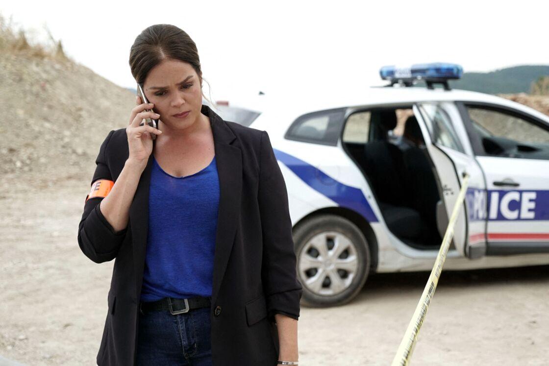 Lola Dewaere lors du tournage du téléfilm « La Vengeance aux yeux clairs ».