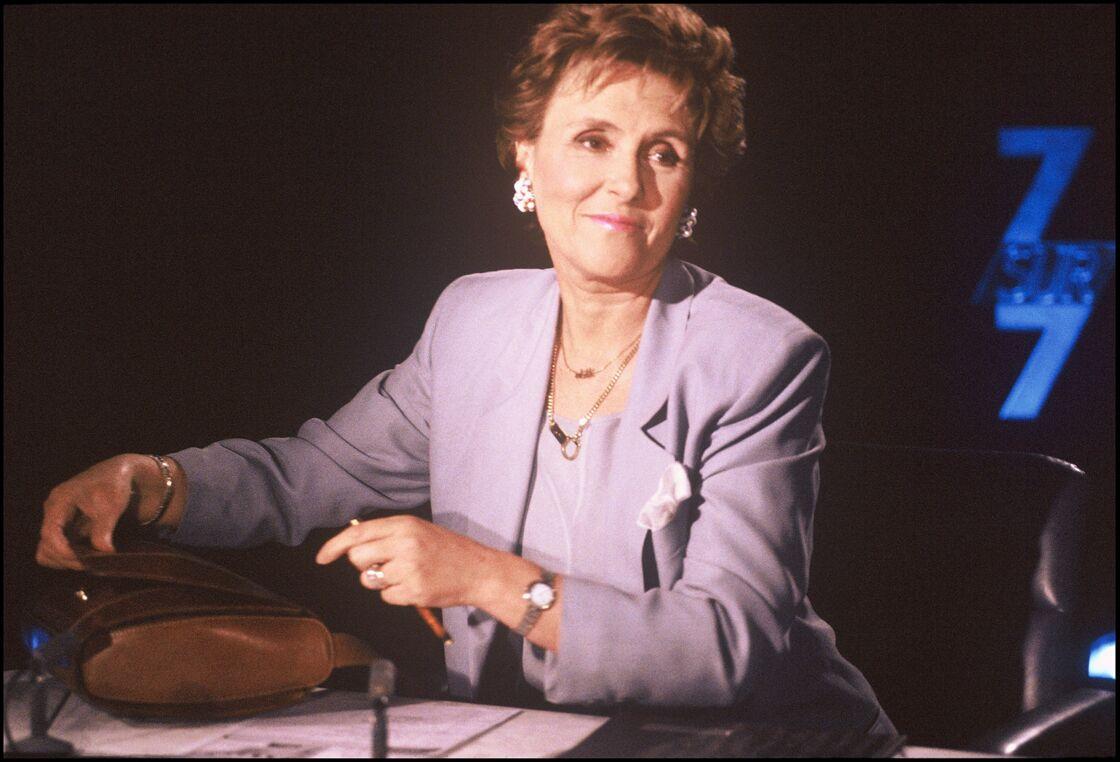 Edith Cresson sur le plateau de 7 sur 7 en 1991.