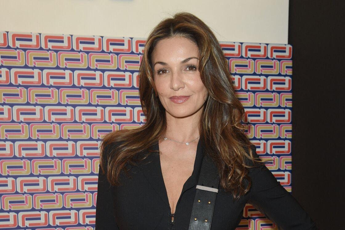 Nadia Farès lors de la Fashion Week, à Paris, le 27 février 2019