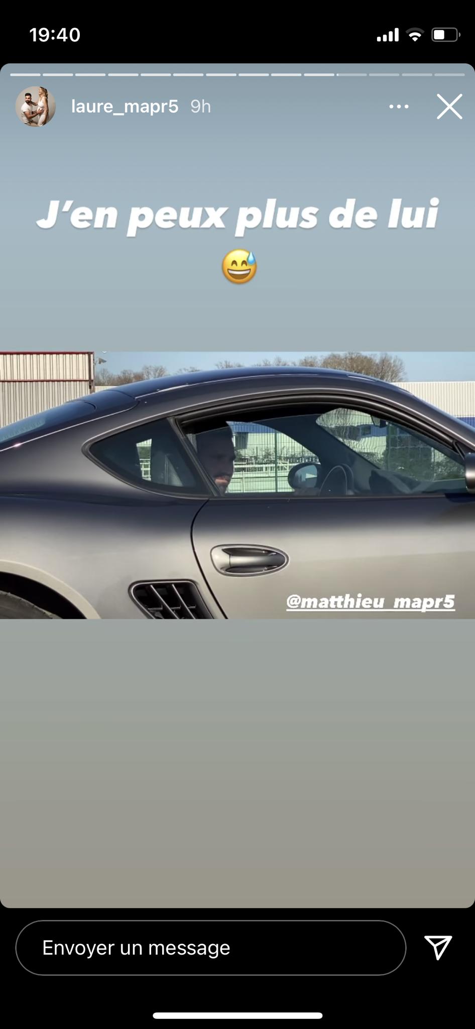 Matthieu dans sa Porsche, le 24 mai 2021