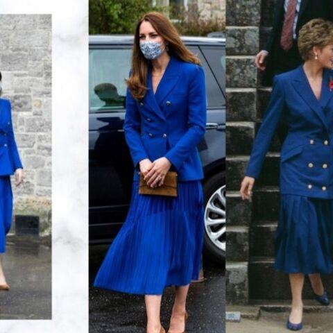 PHOTOS – Kate Middleton en jupe plissée et blazer: elle rend hommage à Diana