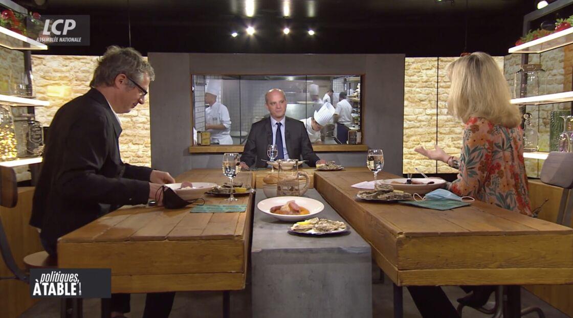 Jean-Michel Blanquer dans l'émission Politiques, à table, sur LCP