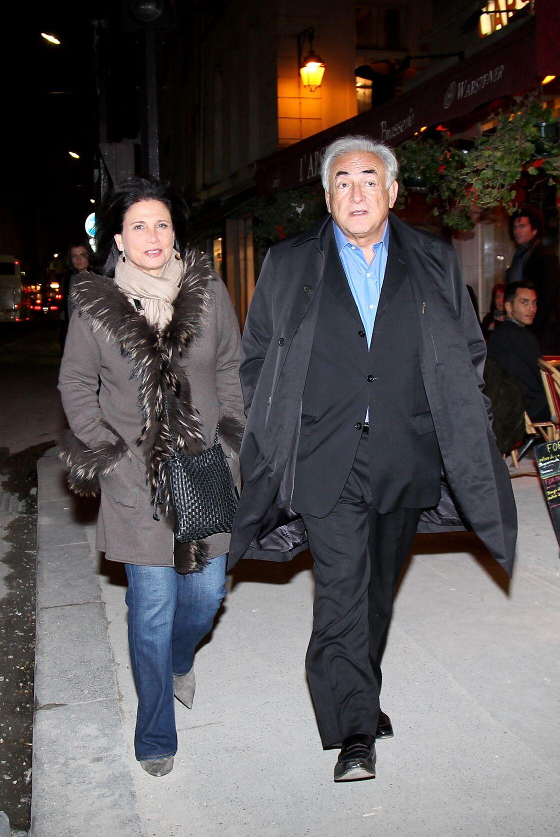 Anne Sinclair et Dominique Strauss-Kahn le 23 novembre 2011 à Paris