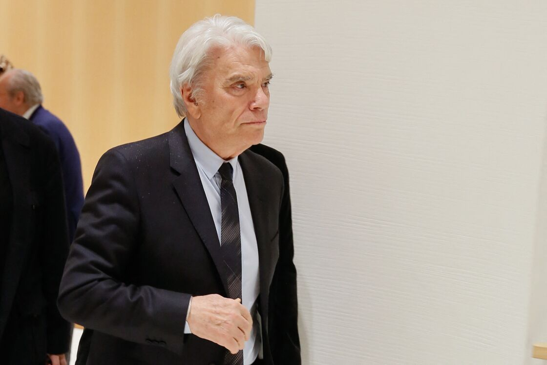 Bernard Tapie à la sortie de la 11ème chambre correctionnelle, 2ème section du tribunal de Paris, le 1er avril 2019.