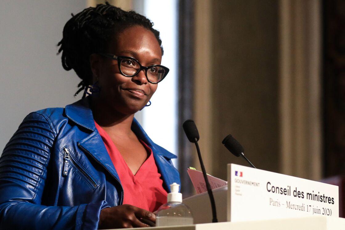 Sibeth NDiaye, lorsqu'elle était encore porte-parole du gouvernement, au palais de l'Élysée, le 17 juin 2020.