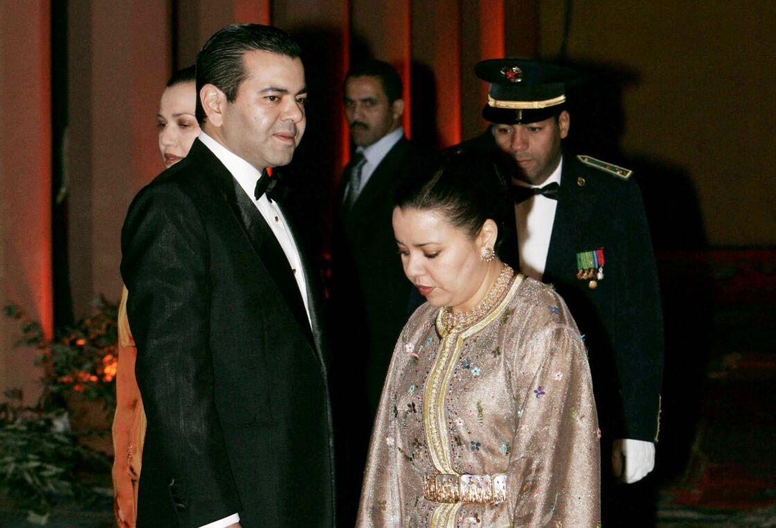 Lalla Asmaa, avec son frère cadet, Rachid ben El-Hassan Alaoui, lors du festival de Marrakech.