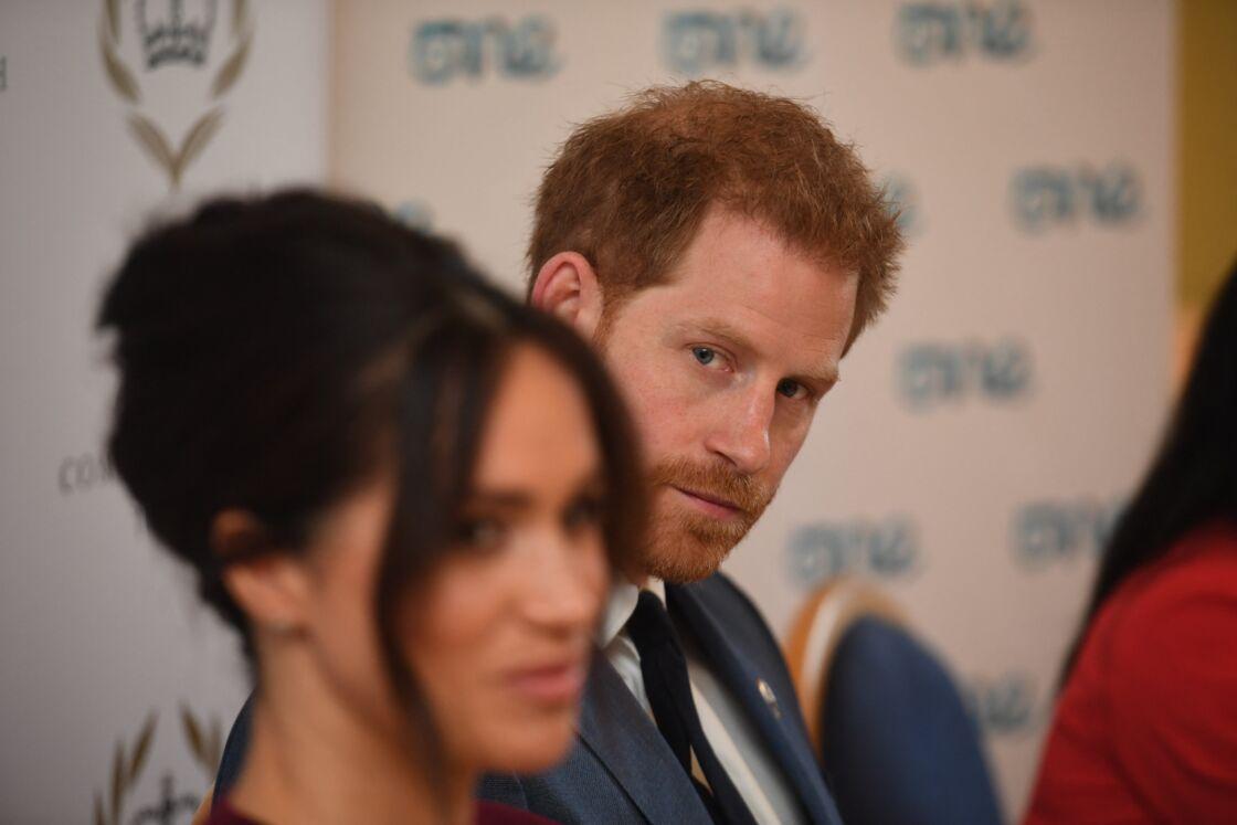 Meghan Markle et Harry le 25 octobre 2019 au château de Windsor