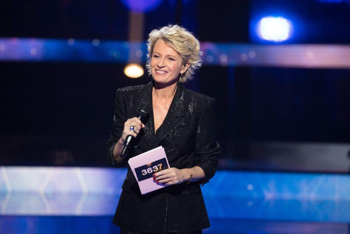 Sophie Davant lors de la 33ème édition du Téléthon, au Parc de la Villette, à Paris, le 7 décembre 2019.