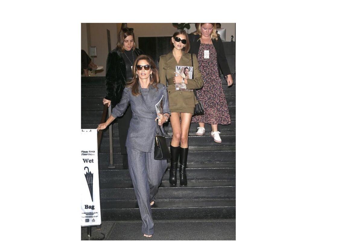 Très stylées , Cindy Crawford et sa fille Kaia Gerber lors d'une sortie à New York
