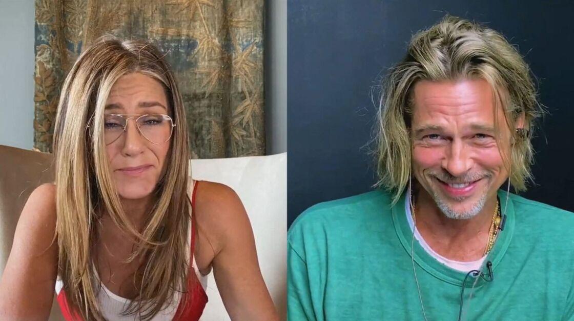 Jennifer Aniston et Brad Pitt en FaceTime le 18 septembre 2020