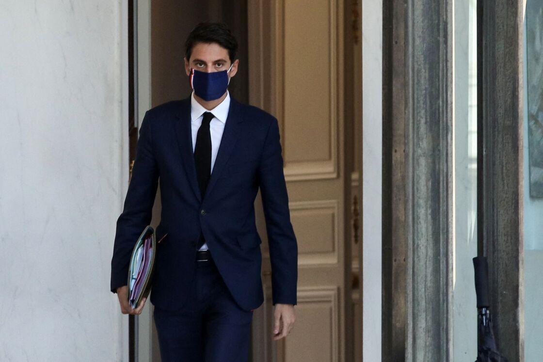 Le porte-parole du gouvernement Gabriel Attal le 31 mars 2021 à Paris