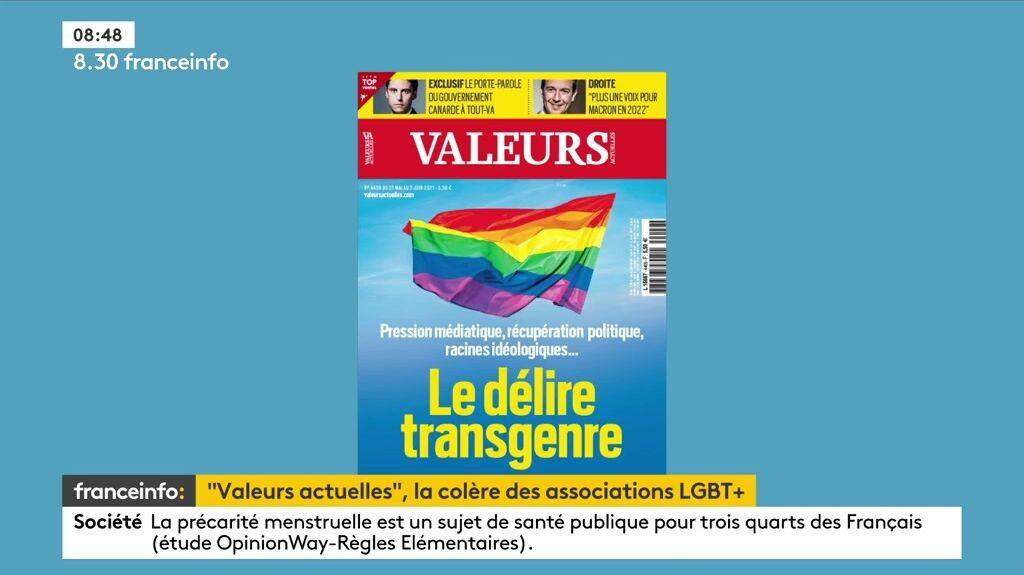Le magazine Valeurs Actuelles, au coeur de la polémique.