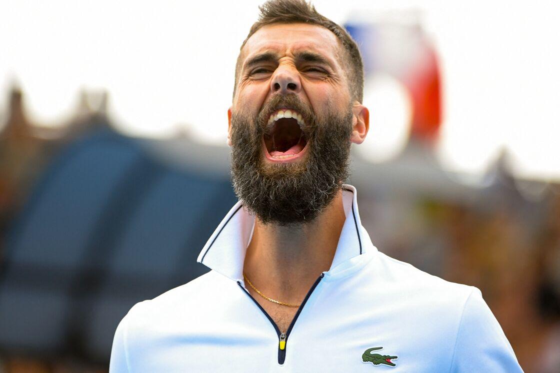 Benoît Paire (France) lors de l'Open d'Australie de tennis à Melbourne, Australie, le 21 janvier 2020.