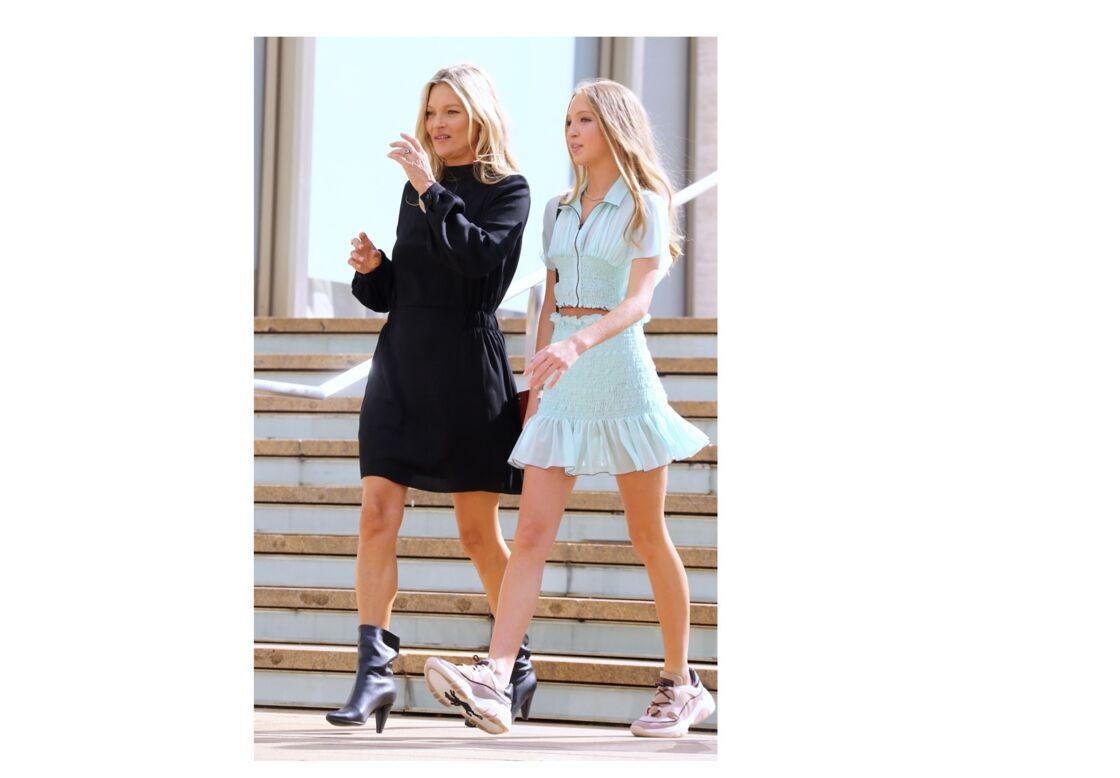 Duo Fashion de choc,  Kate Moss et Lila Grace à la fashion Week de New York