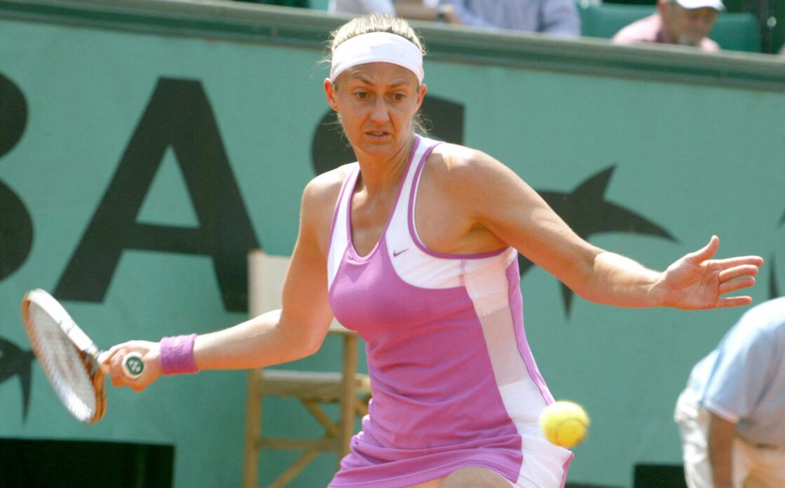 Mary Pierce au tournoi de Roland-Garros en 2004