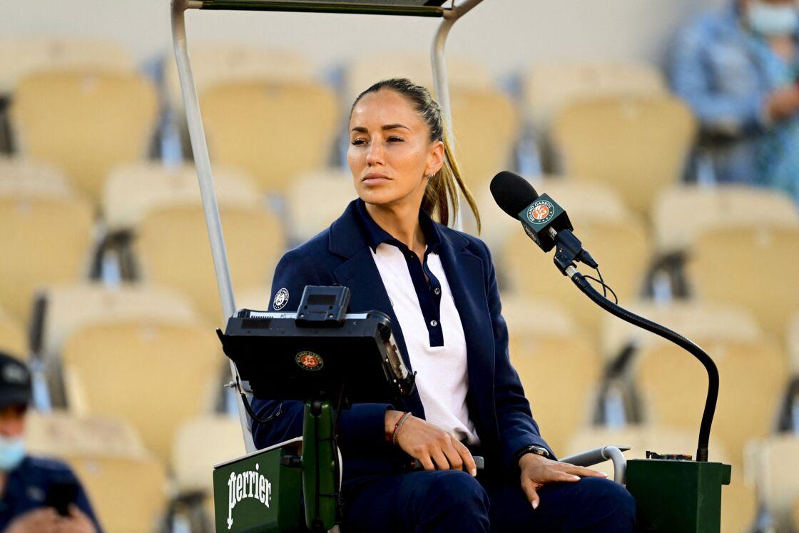 Roland Garros 2021 - L'arbitre de chaise Marijana Veljovic le 31 mai 2021