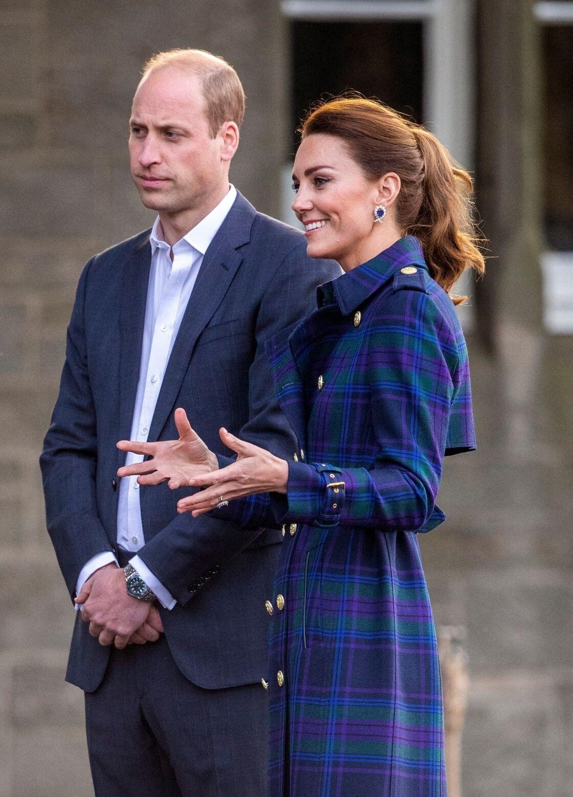 William et Kate Middleton en Ecosse le 26 mai 2021.
