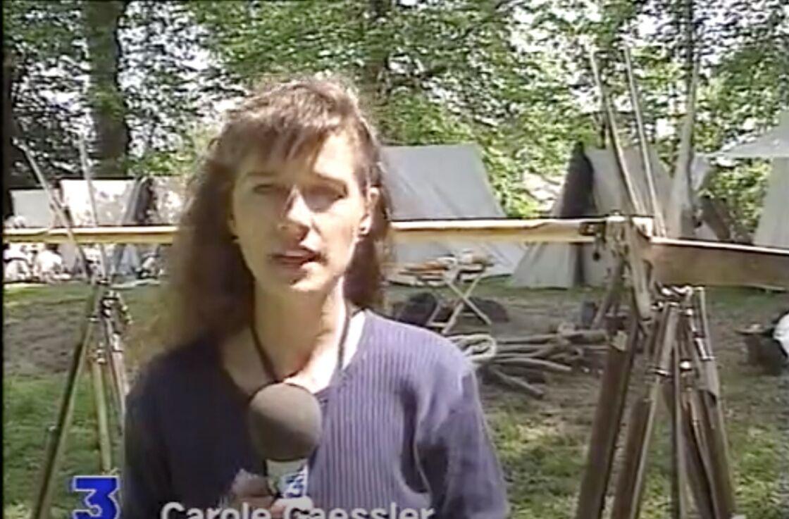 Carole Gaessler, en duplex sur France 3, le 13 mai 1994.