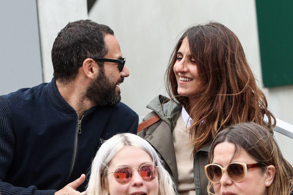 Géraldine Nakache et son mari Jérôme Elie- Betiya - Célébrités dans les tribunes des internationaux de France de tennis de Roland Garros à Paris, France, le 7 juin 2019