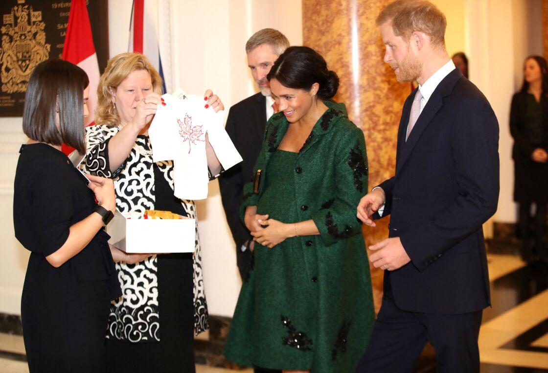 Meghan Markle, enceinte d'Archie, avec le prince Harry, en mars 2019, lors d'une journée du Commonwealth à Londres.