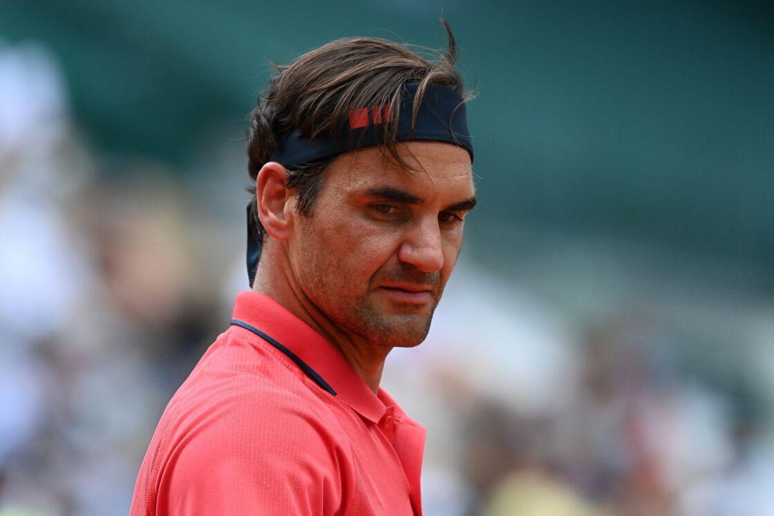 Roger Federer le 3 juin 2021 à Roland-Garros