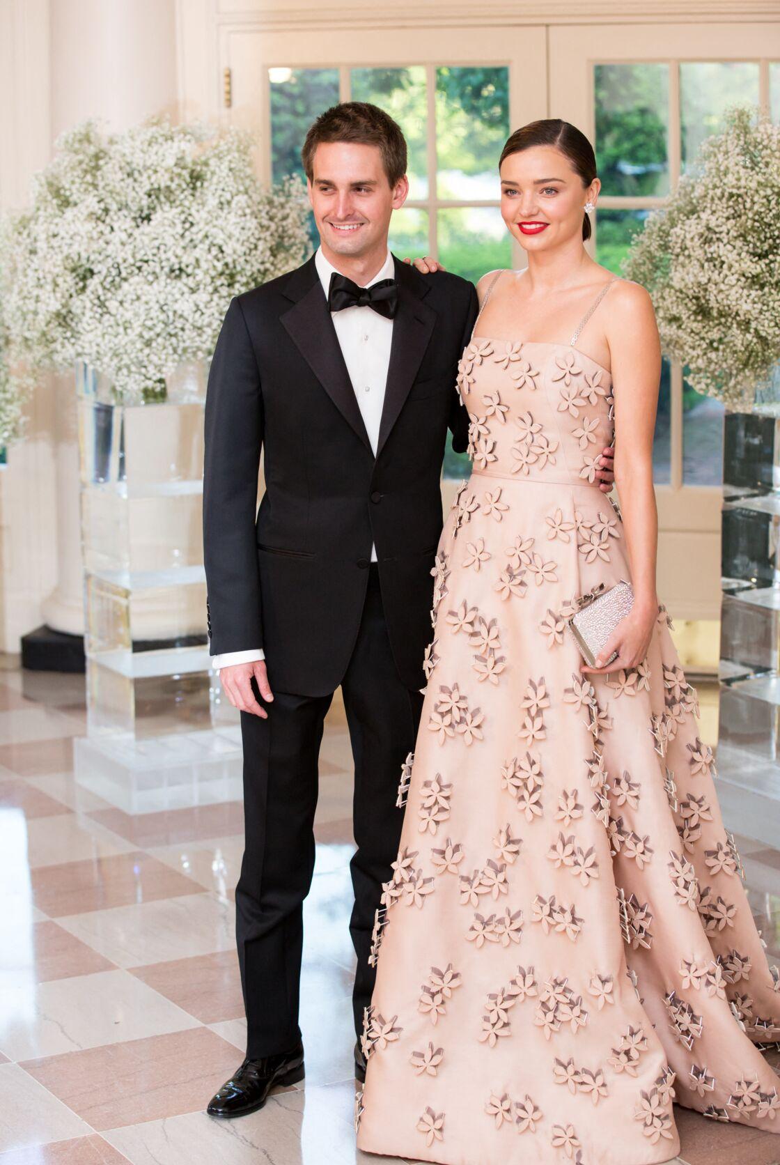 Evan Spiegel et Miranda Kerr en 2016.