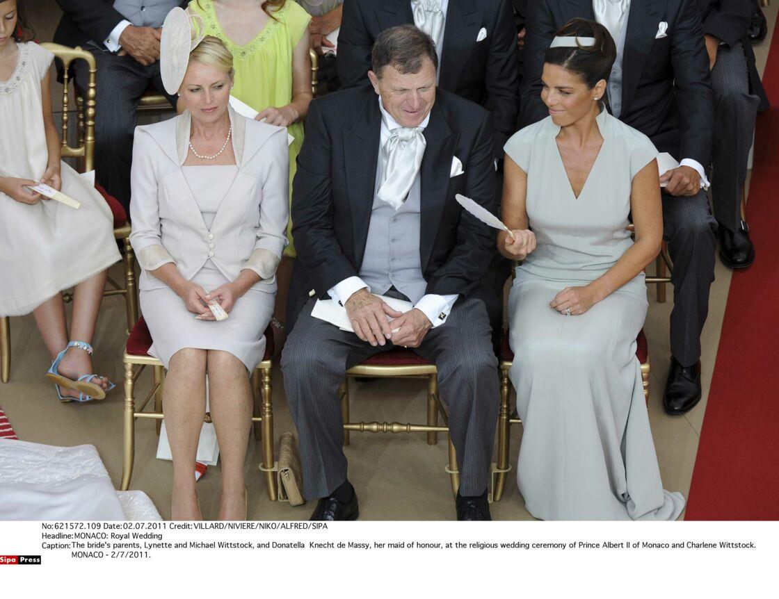 Les parents de Charlene de Monaco : Lynette et Michael Wittstock (à gauche)