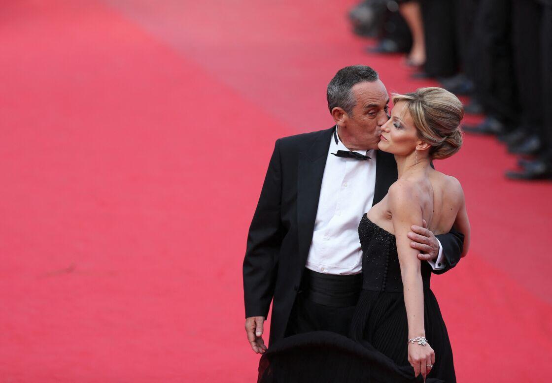 Thierry Ardisson et Audrey Crespo-Mara en 2012 à Cannes.