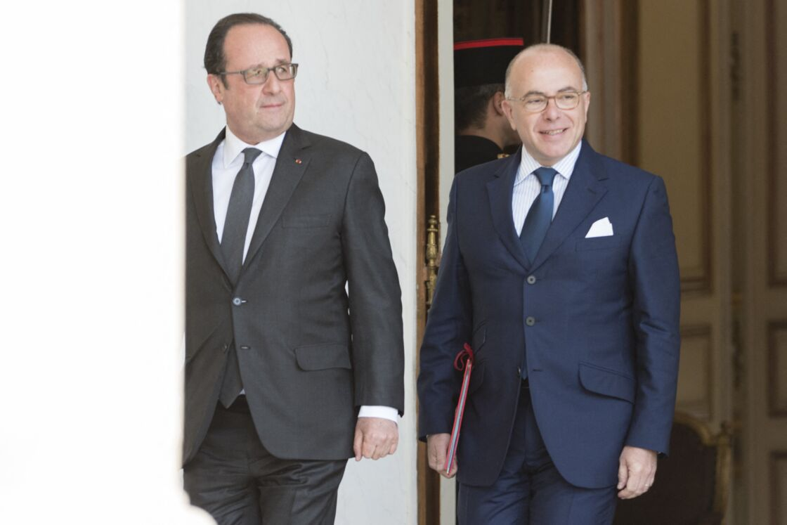 François Hollande et Bernard Cazeneuve en avril 2017.