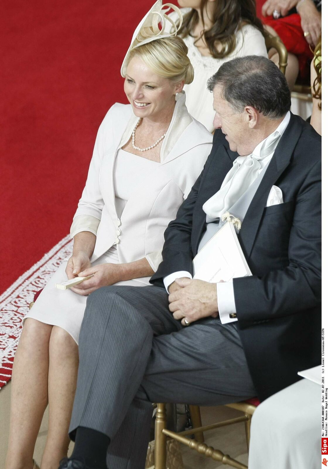 Lynette et Michael Wittstock au mariage de Charlene et Albert de Monaco
