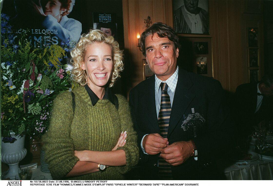 Ophélie Winter et Bernard Tapie à l'avant-première du film
