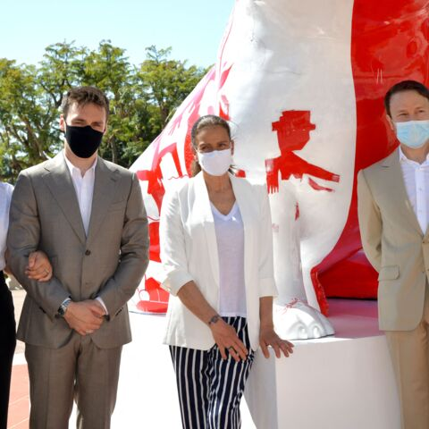PHOTOS – Stéphanie de Monaco: rare sortie officielle aux côtés de son fils Louis et sa femme Marie