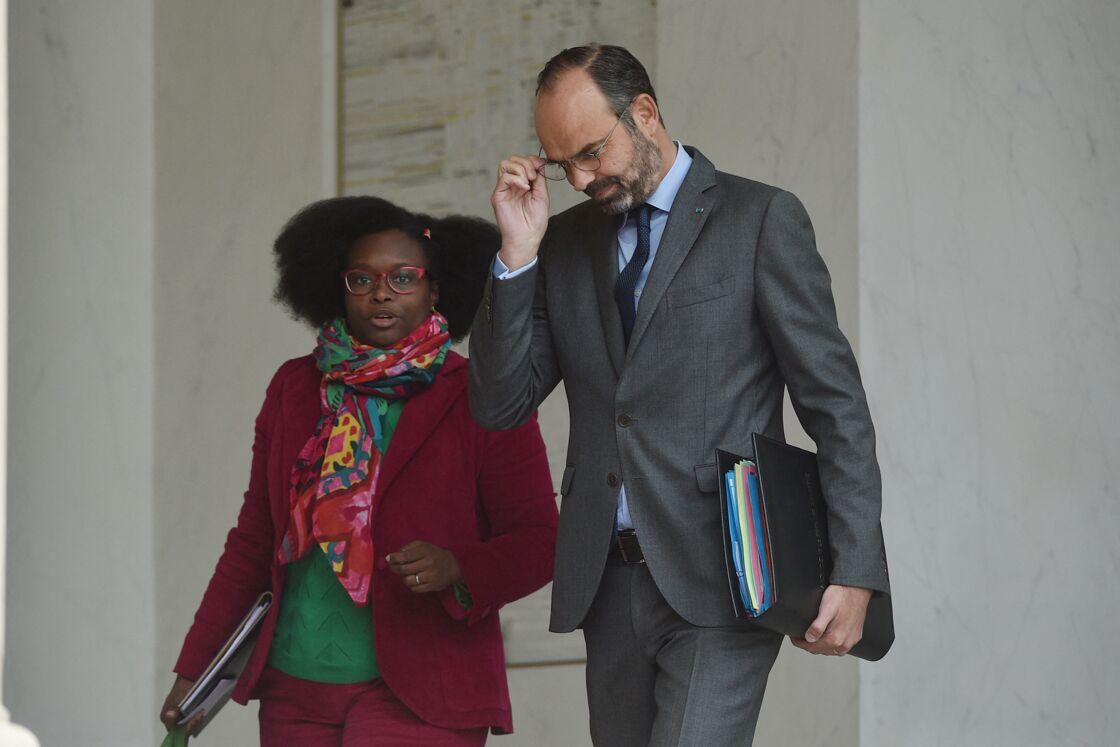 Sibeth Ndiaye, ex porte-parole du gouvernement, Edouard Philippe, ex premier ministre en 2019