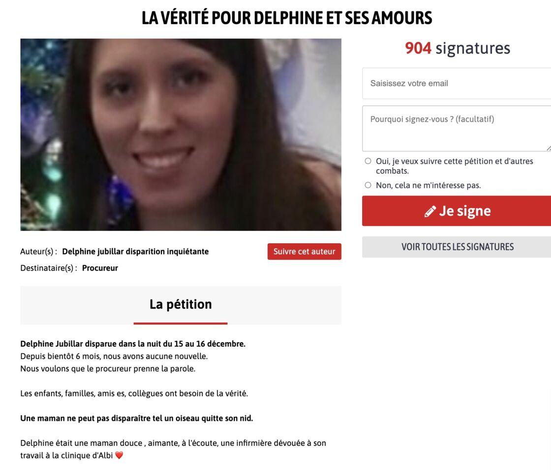 La pétition concernant la disparition de Delphine Jubillar a déjà recueilli plus de 900 signatures.