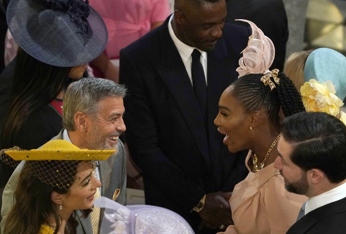 Amal Clooney, George Clooney et Serena Williams au mariage royal, le 19 mai 2018